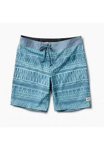 Swimming shorts - ethnic blue print - BOARDSHORT TRIBE LIGHT BLUE