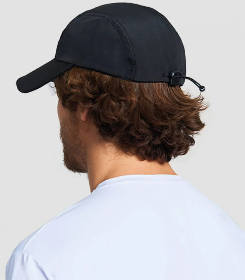 Adjustable black men cap - SPF50 - BONÉ NEO PRETO - SOLAR PROTECTION UV.LINE