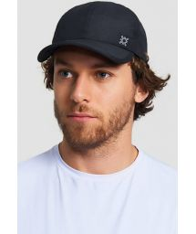 Adjustable black men cap - SPF50 - BONÉ NEO PRETO - SOLAR PROTECTION UV.LINE