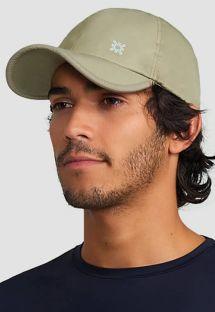 SPF50の調整可能なベージュ色男性用キャップ - BON�UVPRO AREIA - SOLAR PROTECTION UV.LINE