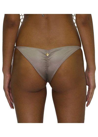 Luxurious beige scrunch bikini bottom - BOTTOM RED SEDUCCION