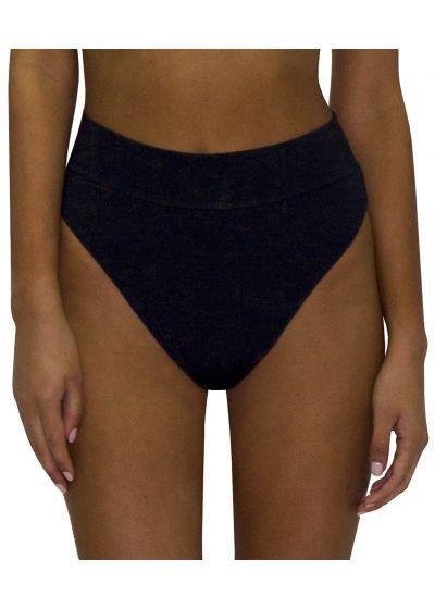 High-waisted and high-leg black bikini bottom - BOTTOM RETRO ROSA PASTEL