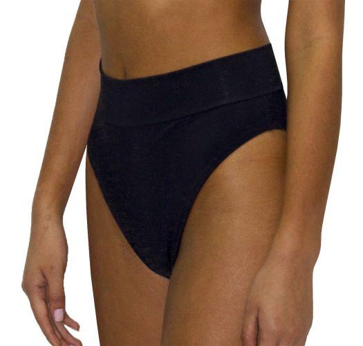 High-Waist-Bikinihose, hoher Beinausschnitt - BOTTOM RETRO ROSA PASTEL
