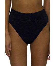 High-waisted and high-leg black bikini bottom - BOTTOM RETRO ROSA PASTEL