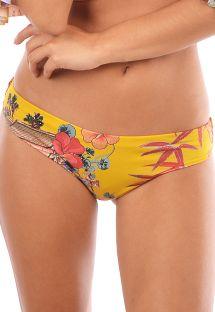 Yellow bikini bottom oriental print - BOTTOM DINASTIA ORIENTAL