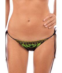 Tropical scrunch side-tied bikini bottom - BOTTOM SELVA NEGRA