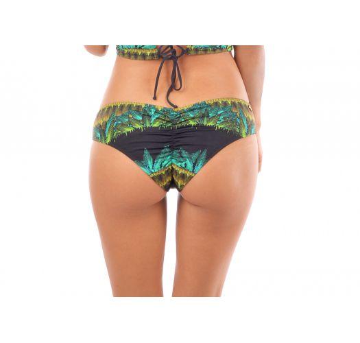 Tropical larger side bikini bottom - BOTTOM SELVA PRETO
