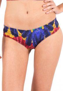 Bas de bikini tropical aux côtés larges - CALCINHA PLUMA HIPSTER