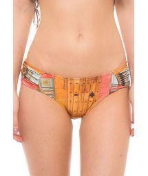 Luxurious printed wide side bikini bottom - CALCINHA CARTAGENA