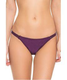 Iridescent purple bikini bottom with multi-strap sides - CALCINHA FIXA TUCANO