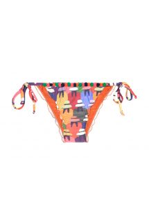 Braguita de bikini multicolor con mini pompones - CALCINHA PERUANAS