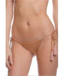 Copper-coloured bikini bottom with tassels - CALCINHA MALDIVES
