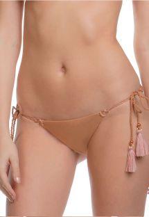 Braguita de bikini cobrizo con pompones - CALCINHA MALDIVES