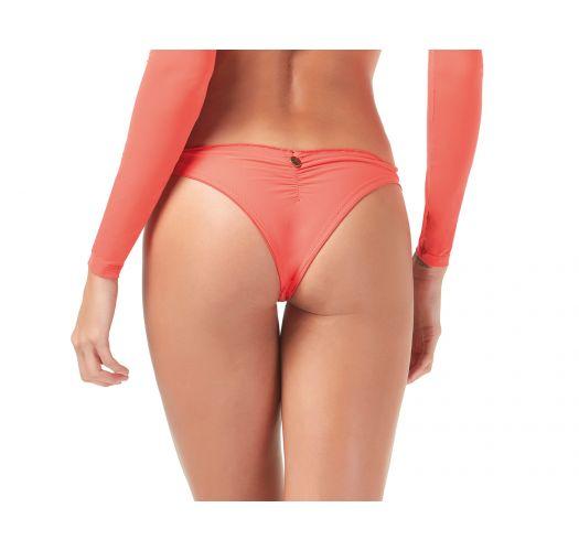 Fixed scrunch coral bikini bottom - BOTTOM CROPPED LADIES FIRST