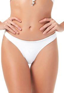 White fixed textured bikini bottoms - BOTTOM SABLE BLANC