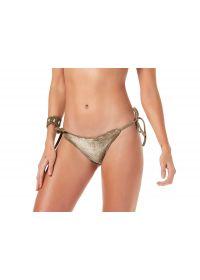 Dark beige / gold velvet scrunch bikini bottom - BOTTOM VELUDO
