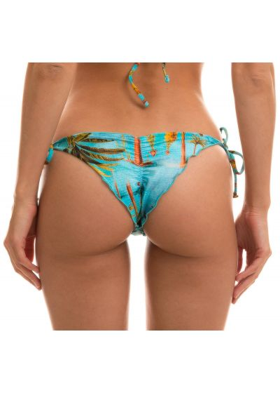 BBS X RIO DE SOL - Tropical side-tie scrunch bikini bottom - BOTTOM POR DO SOL FRUFRU