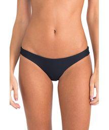 Luxury black bikini bottoms fixed - CALCINHA BICOLOR ATHLETIC BLACK/OFF WHITE