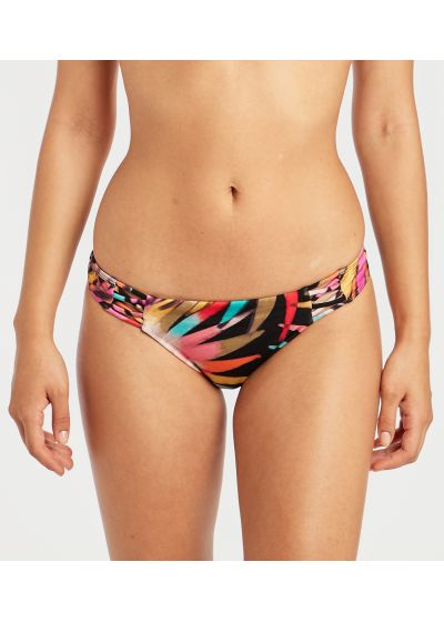 Gemusterte Bikinihose mit Strappy-Details - SOL SEARCHER TROPIC PALM