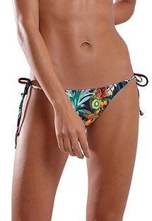 Multicolored tropical Brazilian bikini bottom - BOTTOM ICEBERG IQUITOS