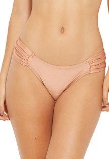 Perzikkleurig bikinibroekje met plooitjes aan de zijkanten- BOTTOM ACQUA MARROM ERES