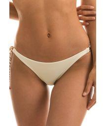 Beige brasiliansk bikinibyxa med tvåfärgade knytband - BOTTOM ANGEL PEROLA BRANCO