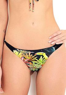 Floral bikini bottom with multi straps sides - BOTTOM ANGRA DOS REIS