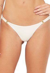 Ecru bikini briefs with rings - BOTTOM AREAL CRU PEROLA