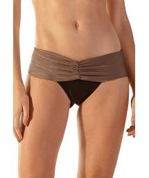 Taupe & black larger side bikini bottom - BOTTOM AUSTRALIA CARAMEL PRETO