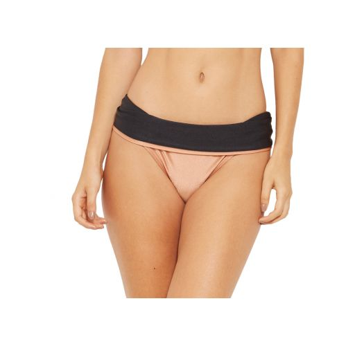 Tofarget bikiniunderdel svart/hudfarget - BOTTOM BICOLOR PRETO