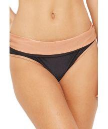 Bicolor bikini bottom black / nude - BOTTOM BICOLOR PRETO