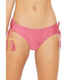 Pink bikini bottom with laced sides - BOTTOM CAIRO ROSA PERFUME