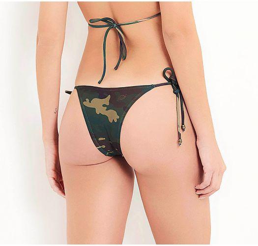 Cueca brasileira de atar c/ padrão camuflado - BOTTOM CAMUFLADO