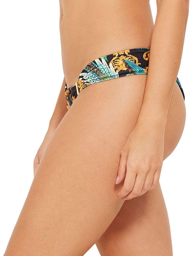 Colorful accessorized bikini bottom - BOTTOM CARIBE REALEZA
