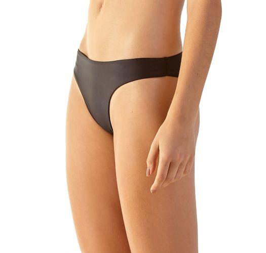Schwarze ausgeschnittene feste Bikinihose - BOTTOM CHERRY PRETO