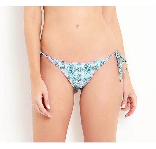 Blauw-wit bikinibroekje gestrikt aan de zijkant - BOTTOM CRISTA DA ONDA