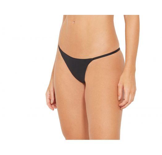 Svart, festet bikiniunderdel - BOTTOM FOX PRETO