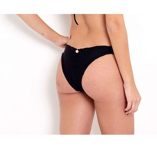Svart brasiliansk bikiniunderdel med bølgekanter - BOTTOM FRUFRU PRETO