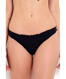 Black Brazilian bikini bottom wavy edges - BOTTOM FRUFRU PRETO