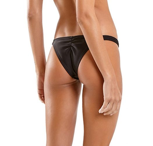 Black fixed scrunch bikini bottom - BOTTOM HULA PRETO