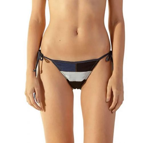 Tri-color jeans Brazilian side-tie bikini bottom - BOTTOM JUPTER JEANS