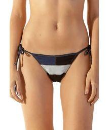 Tri-color jeans Brazilian side-tie bikini bottom - BOTTOM JUPTER JEANS