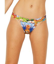 Fixed bikini bottom with multicolored print - BOTTOM MASTER HEMISFERIO