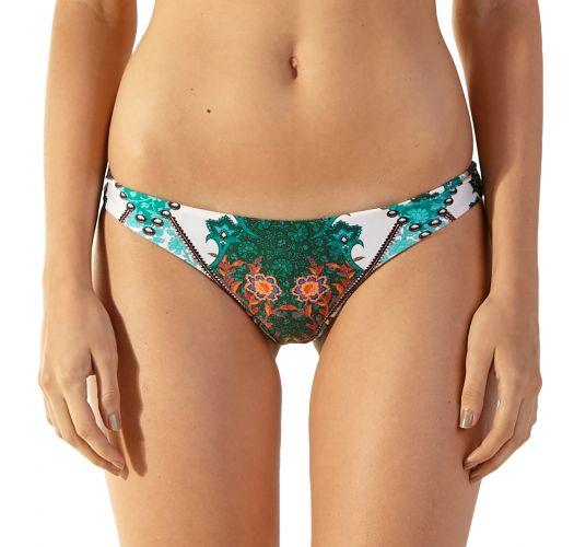 Green ethnic scrunch bikini bottom - BOTTOM MASTER MUMBAI