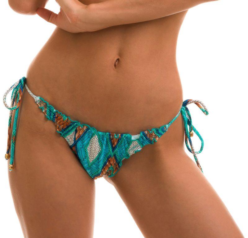 Geometrisch gemusterte Scrunch-Bikinihose - BOTTOM MEL BARLAVENTO