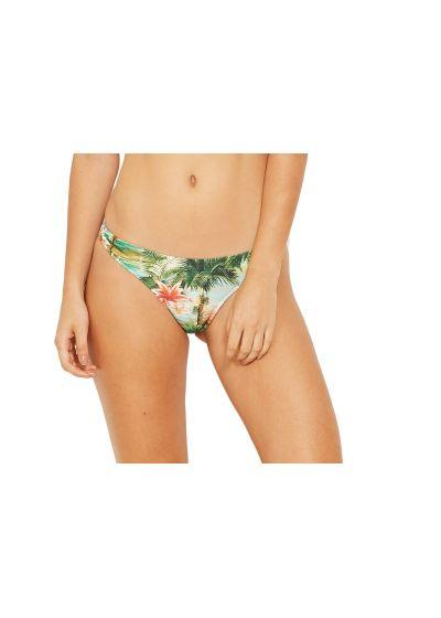 Scrunch bikini bottom in tropical vintage print - BOTTOM OMEGA ISLA