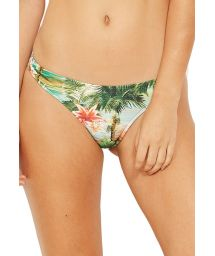 Scrunch bikini bottom in tropical vintage print - BOTTOM OMEGA ISLA