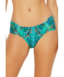 Pleated larger sided bikini bottom - blue peacock - BOTTOM PRADO FANTASTIC