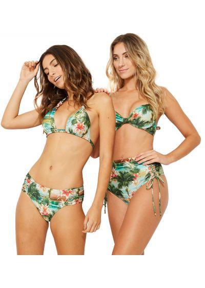 Larger side bikini bottom in tropical vintage print - BOTTOM PRADO ISLA