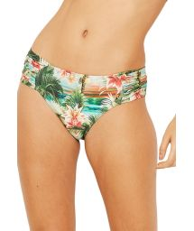 Larger side bikini bottom in tropical vintage print - BOTTOM PRADO ISLA